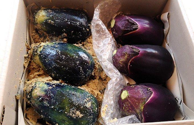 地元割烹料亭「松屋」が丁寧に漬け込んだ泉州産水茄子の糠漬け