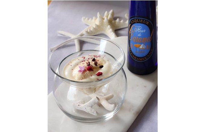 上品なキャラメルとほのかな塩味。夏の味覚を引き立てる「フルール・ド・キャラメル」