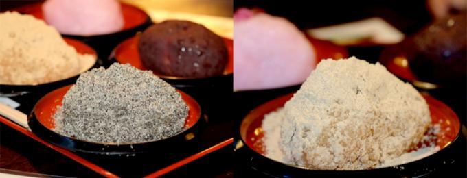 お土産に最適な「甘味おかめ」のげんこつくらい大きい手作りおはぎ