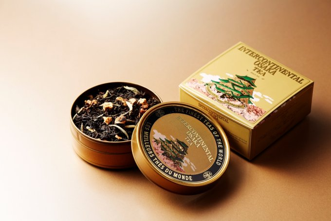 ゴールドの缶に大阪城!インターコンチ大阪限定、TWGのオリジナルブレンドティー