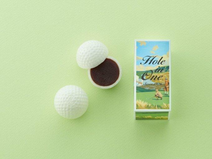 その名も『ホールインワン』!! ゴルフ好きに喜ばれる、虎屋の【ゴルフ最中】