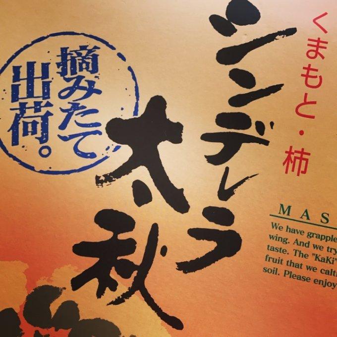 芸術の秋。芸術の柿。熊本産「シンデレラ太秋柿」