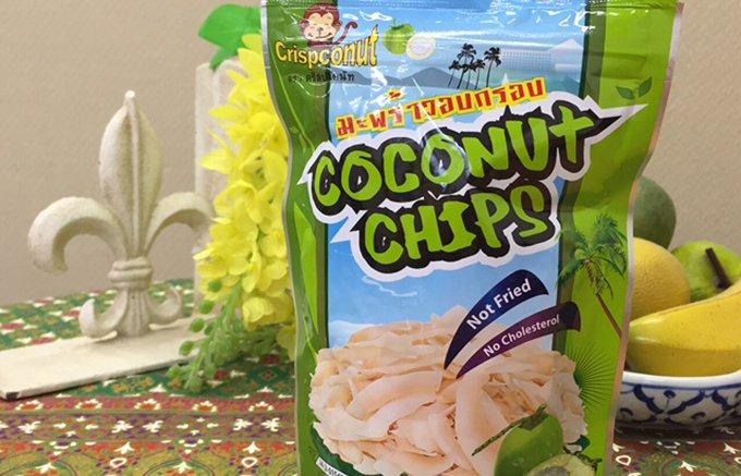 """サックサックの食感!南国のココナッツから作られた""""ココナッツチップス"""""""
