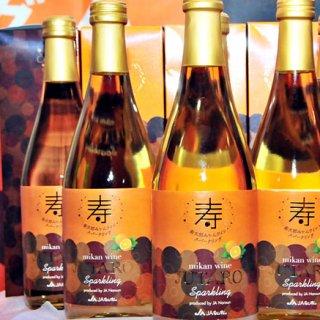 甘みと酸味が絶妙な寿太郎みかんがワインに!「寿太郎 みかんワインスパークリング」