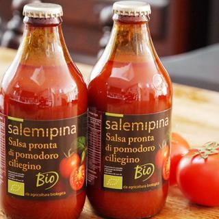 シチリア産有機チェリーを使用したトマトの美味しさに溢れたトマトのソース