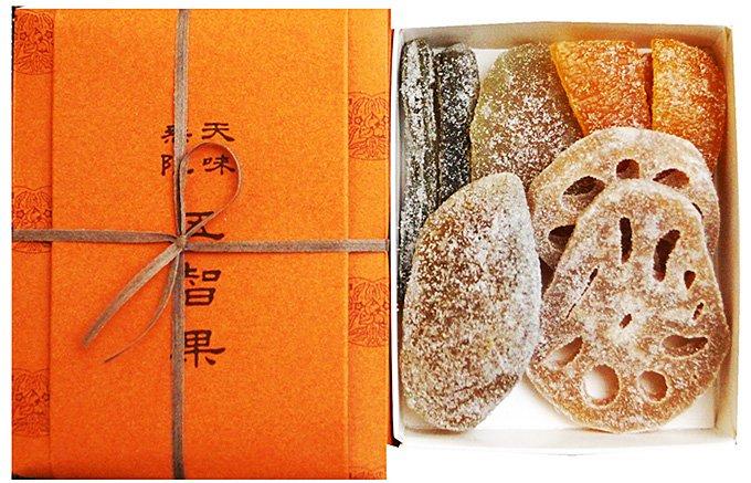 旬の果物や野菜で作る風雅な砂糖菓子「五智果」