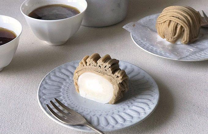 和菓子と洋菓子、両方の魅力が味わえる日の出楼のモンブラン大福