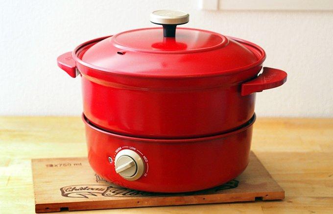あのBRUNOに新顔登場!煮る、焼く、蒸す、揚げる。1台4役の「グリルポット」