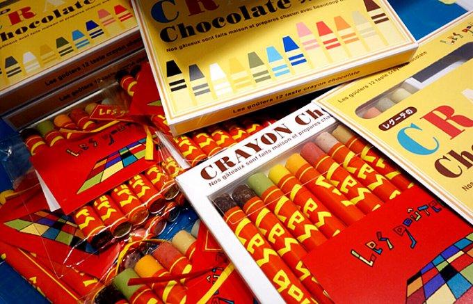 本物そっくり!キュートでポップな「クレヨンチョコレート」