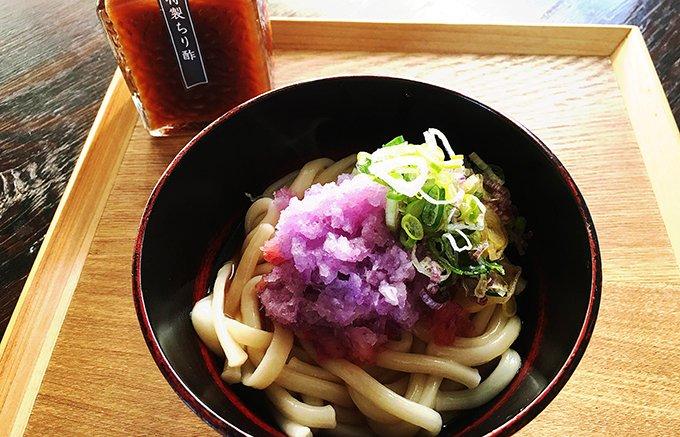 """六本木""""与太呂""""のコシの強いうどん「どんう」と徳島県産の柚子の「ちり酢」セット"""