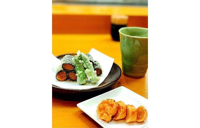 島唐辛子のほどよい辛みとお出汁のバランスが絶品!博多・鶴亀寿司の「辛子明太子」