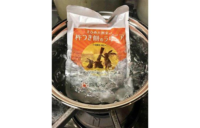 愛媛から全国発信の「杵つき餅カレー」第二弾は、「杵つき餅のラザニア」!
