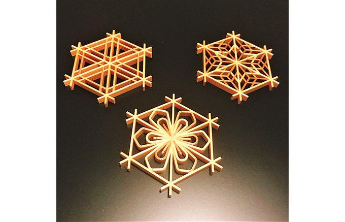 木片の幾何学模様が織りなす食卓の華『大川組子』