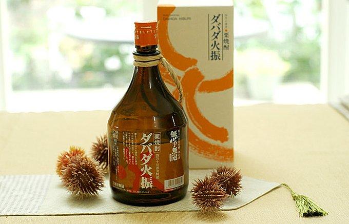 四万十川の源流特産!生栗を50%使用した希少な栗焼酎「ダバダ火振」
